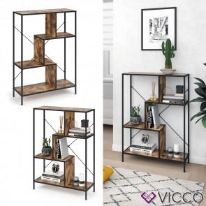 VICCO Loft Bücherregal Fyrk 113 x 80 x 30 cm