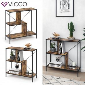 VICCO Loft Bücherregal Fyrk 79,5 x 80 x 30 cm
