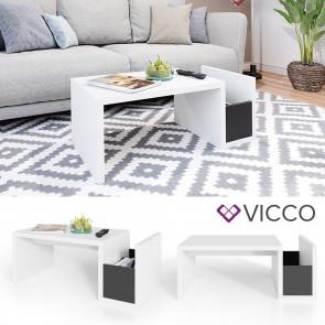 VICCO Couchtisch Hjorne weiß