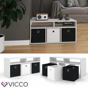 VICCO Raumteiler HYLDA 5 Fächer Weiß