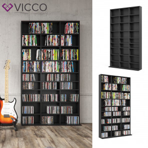 VICCO CD DVD Regal JUKEBOX 180 cm Schwarz