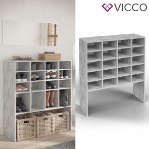 VICCO Schuhschrank HERMIA 20 Fächer Beton