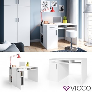 VICCO Schreibtisch OLIVER weiß