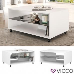 VICCO Couchtisch MERINO weiß schwarz