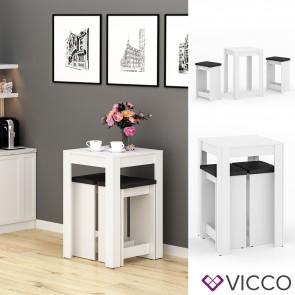 VICCO Tischgruppe GERO Weiß Anthrazit