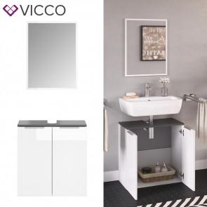 VICCO Badmöbel-Set OTIS Weiß Unterschrank Spiegel