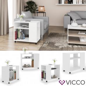 VICCO Beistelltisch ROLLI weiß