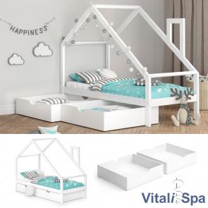 VITALISPA Funktionsbett Kinderbett NICOLE 90x200 mit 2 Schubladen