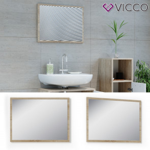 VICCO Badspiegel KIKO 60 x 45 cm Sonoma Weiß