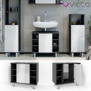VICCO Waschbeckenunterschrank FYNN 60 cm Anthrazit