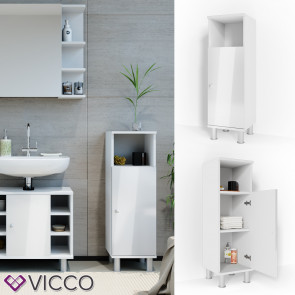 VICCO Midischrank FYNN 95 x 30 cm Weiß Hochglanz