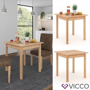 VICCO Esstisch Jorge Eiche 75x75cm