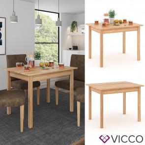 VICCO Esstisch Jorge Eiche 110x75cm