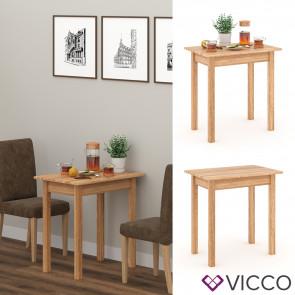 VICCO Esstisch Jorge Eiche 50x75cm