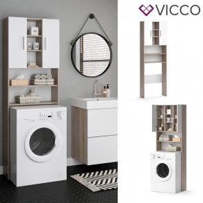 VICCO Waschmaschinenschrank LUIS Sonoma Weiß