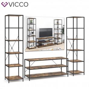 VICCO Loft Set Fyrk Standregal Fernsehtisch