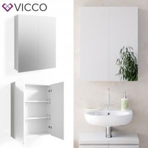 VICCO Spiegelschrank FREDDY Weiß Hochglanz
