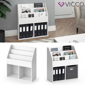 VICCO Bücherregal LUIGI weiß 79 cm
