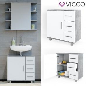 VICCO Waschtischunterschrank ILIAS Beton Weiß