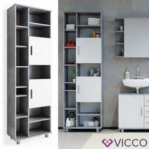 VICCO Hochschrank ILIAS Beton Weiß