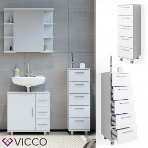VICCO Badschrank ILIAS Weiß