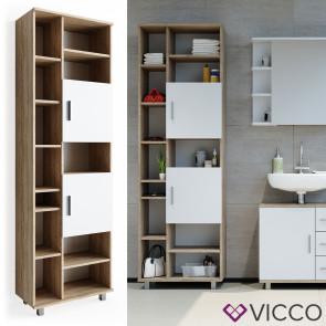 VICCO Hochschrank ILIAS Sonoma Weiß