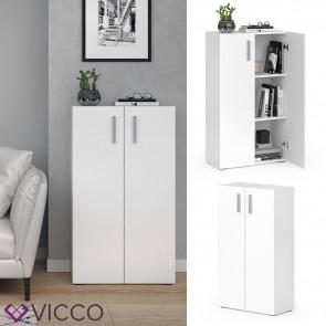 VICCO Bücherregal EASY M Weiß Türen