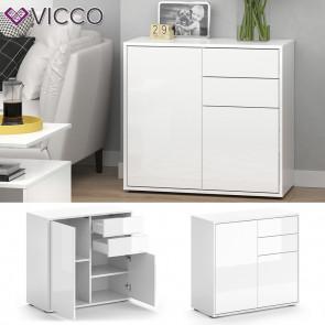 VICCO Kommode Avola 79 cm Weiß