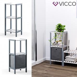VICCO Bambusregal 3 Ebenen 1 Faltbox