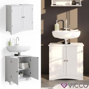 VICCO Waschtischunterschrank Bianco