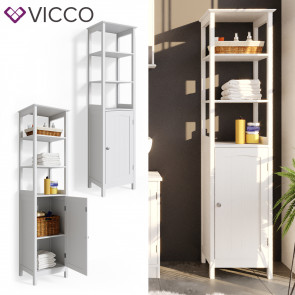 VICCO Badschrank Bianco
