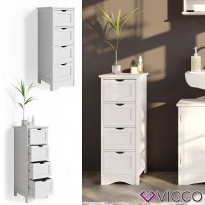 VICCO schmaler Badschrank Bianco