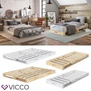 VICCO Palettenbett mit Schubladen