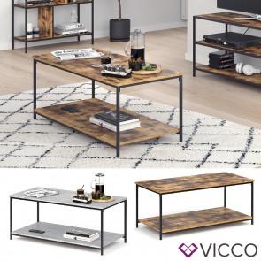 VICCO Couchtisch FYRK Wohnzimmertisch Beistelltisch Kaffeetisch mit Ablage Tisch