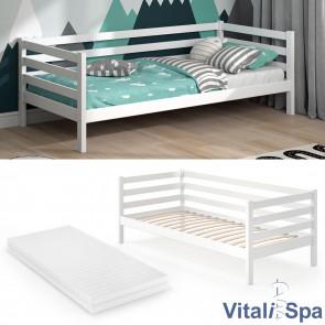 VITALISPA Kinderbett DARCY 90x200cm Weiß mit Matratze