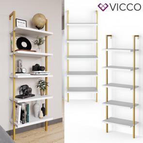 Vicco Loft Bücherregal Ava Gold
