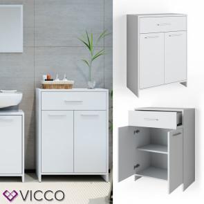 VICCO Midischrank KIKO 80 x 60 cm Weiß