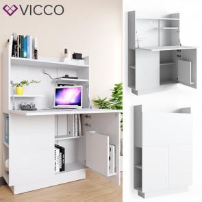 Vicco Schreibtisch-Schrank Alena