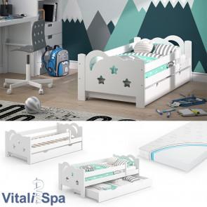 VitaliSpa Kinderbett Sari 140x70cm weiß mit Matratze