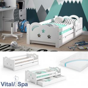 VitaliSpa Kinderbett Sari 160x80cm weiß mit Matratze