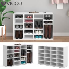 VICCO Schuhschrank Lysander 20 Fächer Weiß