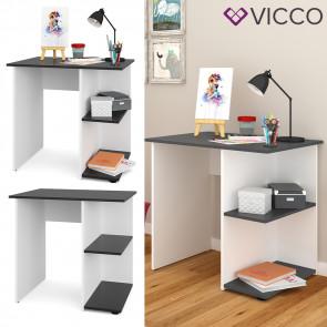 VICCO Schreibtisch SIMPLE Anthrazit Weiß Arbeitstisch Computer Kinder Büro