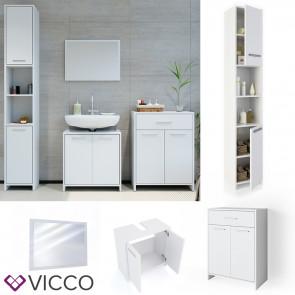 VICCO Badmöbel Set 6 KIKO Weiß