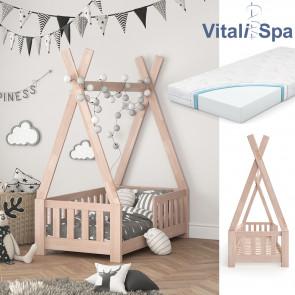 VITALISPA Hausbett TIPI 70x140cm Natur + Matratze