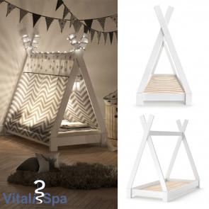 VITALISPA Kinderbett TIPI 70x140 cm Weiß