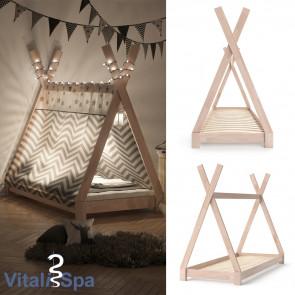 VITALISPA Kinderbett TIPI 80x160 cm Natur