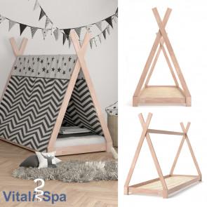VITALISPA Kinderbett TIPI 90x200 cm Natur