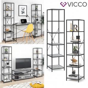 VICCO Loft Standregal Fyrk 2er Set Beton