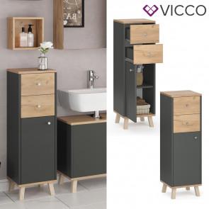 VICCO Midischrank mit Schubladen SENYO Goldkraft Anthrazit