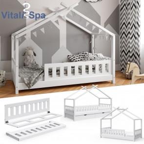 VITALISPA Rausfallschutz für Kinderbett Bettschutzgitter Bettgitter 120cm Holz